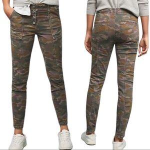 ANTHROPOLOGIE CAMO Jefferson Slim Utility Jeans 29